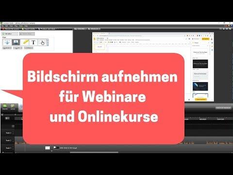 Präsentationen am Bildschirm aufnehmen für Webinare und Onlinekurse