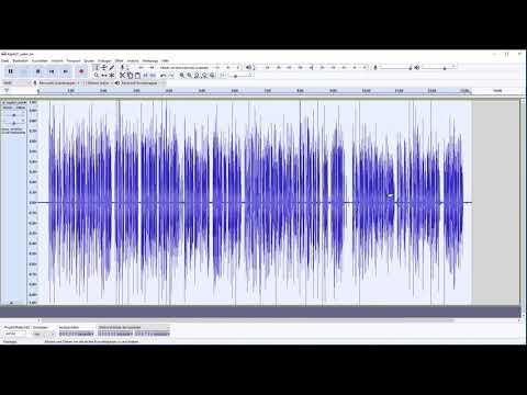 Ein Hörbuch oder Podcast bearbeiten mit dem kostenlosen Audio-Programm Audacity